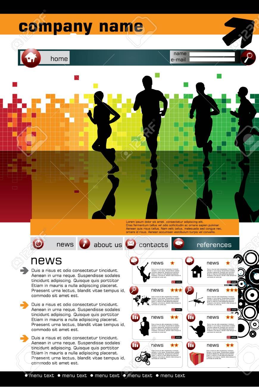 Website design template, Vector. Stock Vector - 8813222