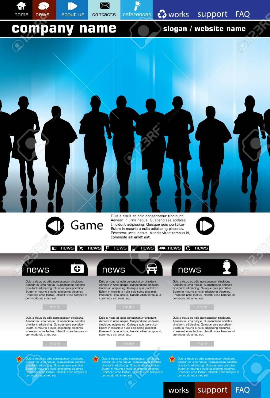 Web site design template, vector. Stock Vector - 8863103