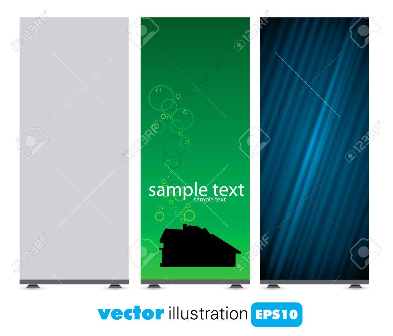 Roll up display with banner template Stock Vector - 9191861