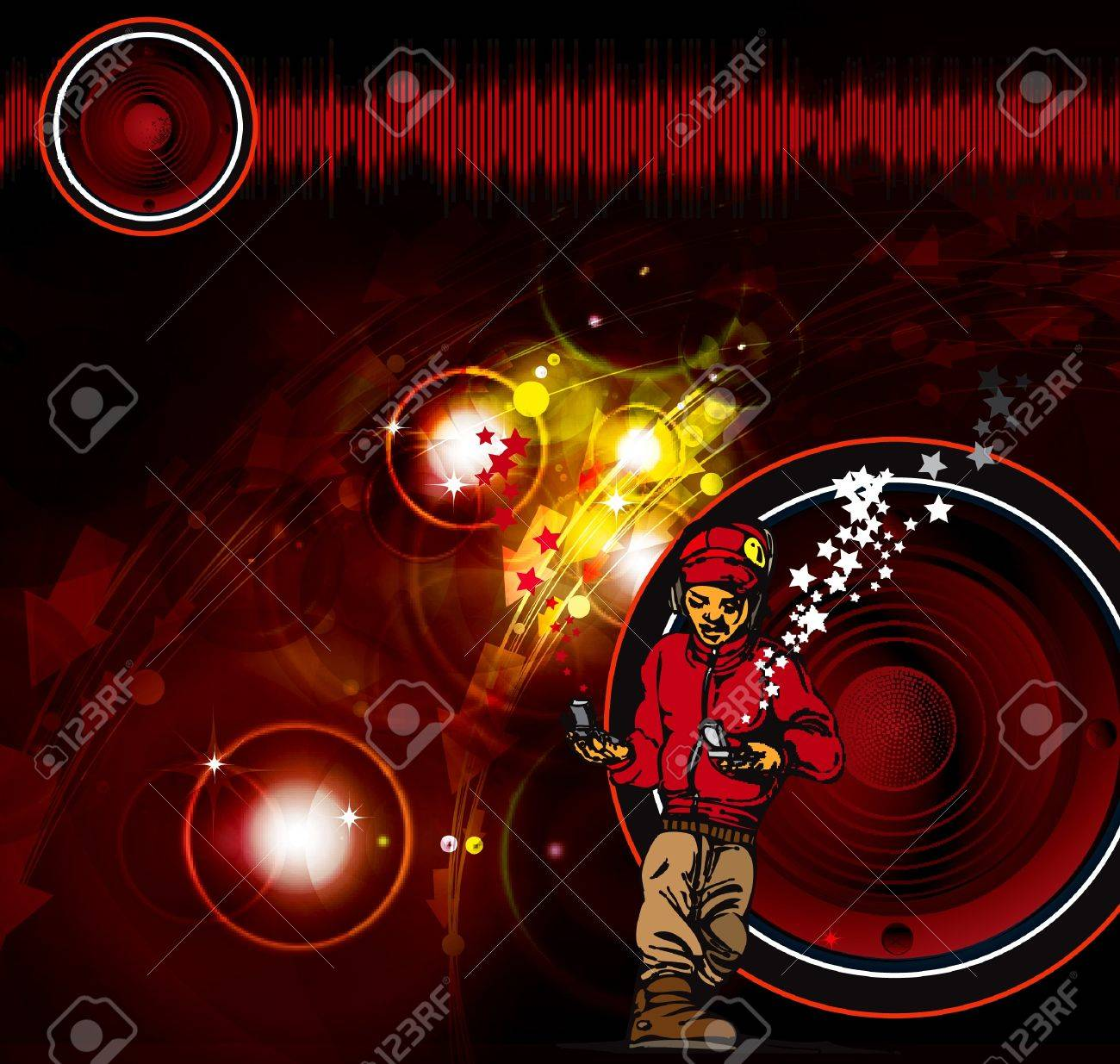 Music poster Stock Vector - 9868738