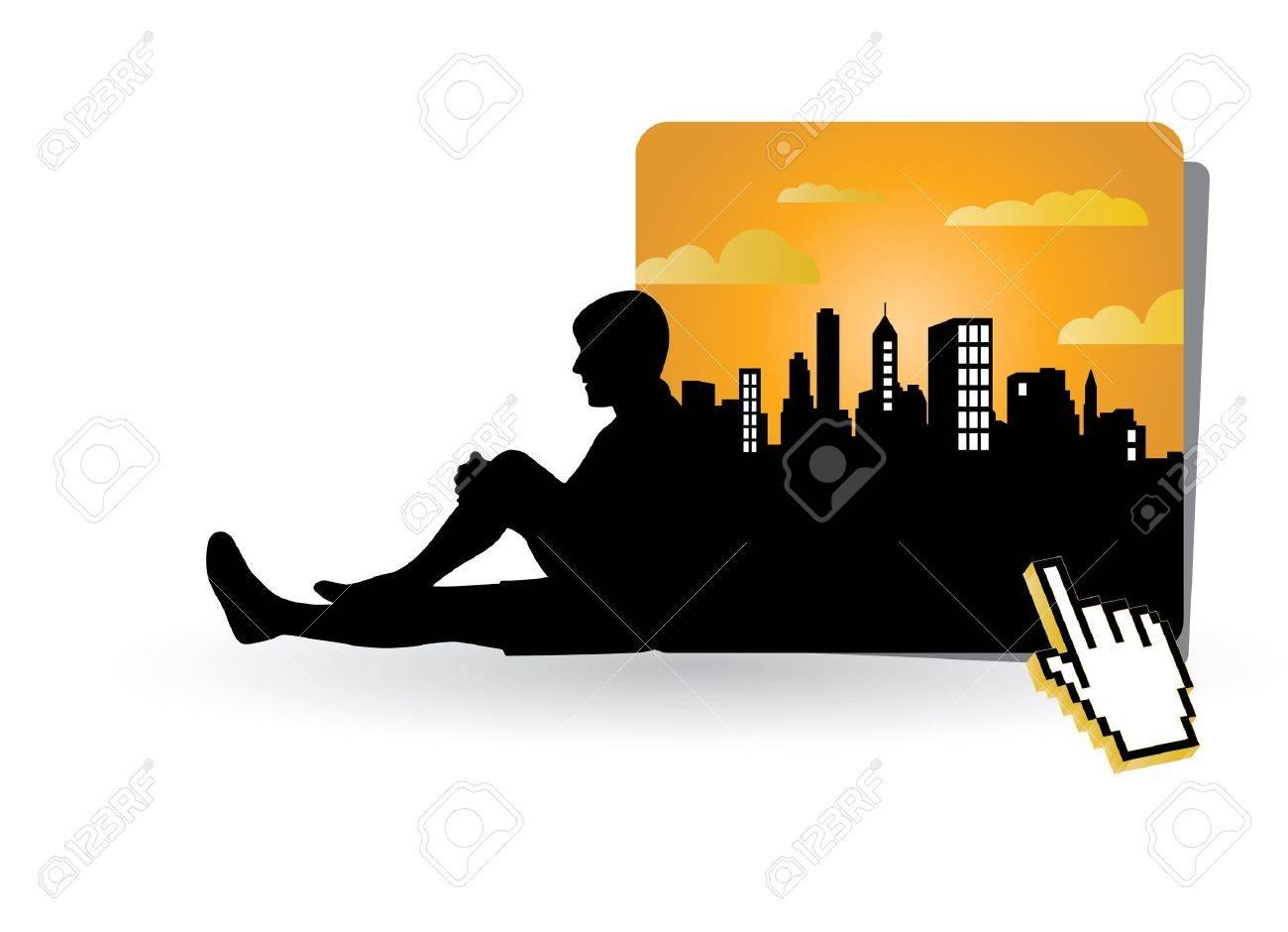 Tourist Travelers Men Stock Vector - 9868974