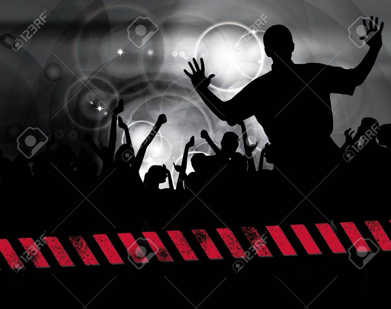 Large crowd of party people - vector background. Stock Vector - 9822589