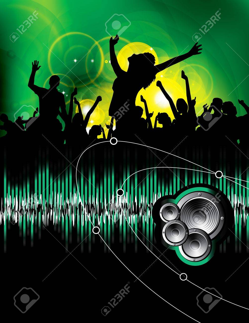 Party People Vector Background Stock Vector - 9819923
