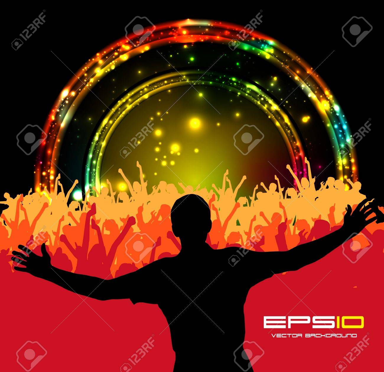 Music Event Background Vector Eps10 Illustration Royalty Free