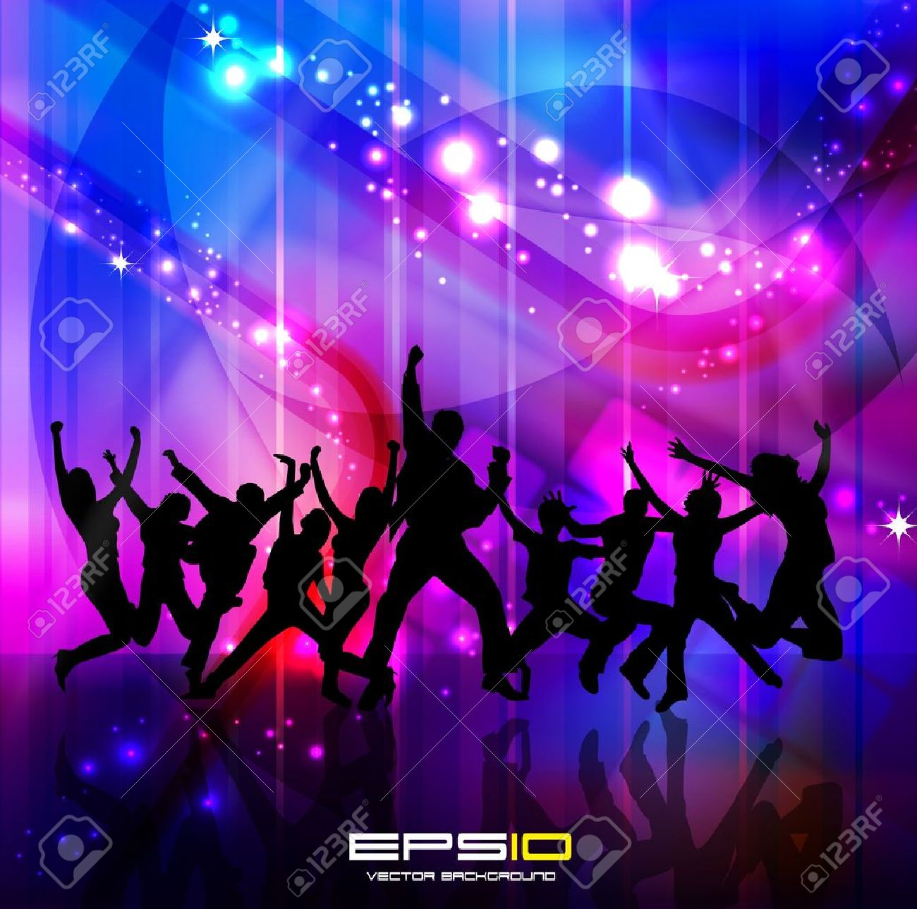 Music Event Background Kids Dance Party