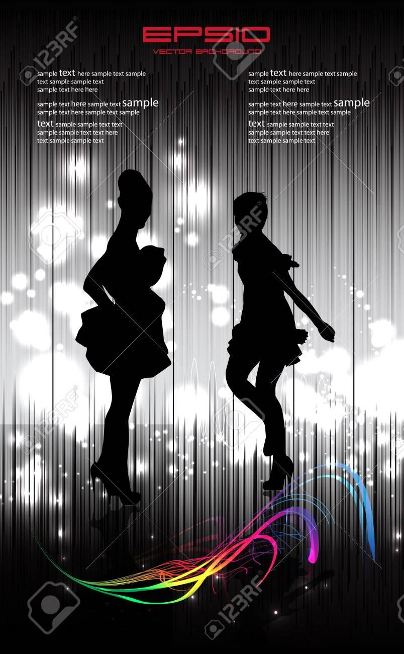 Disco women illustration Stock Vector - 10965863