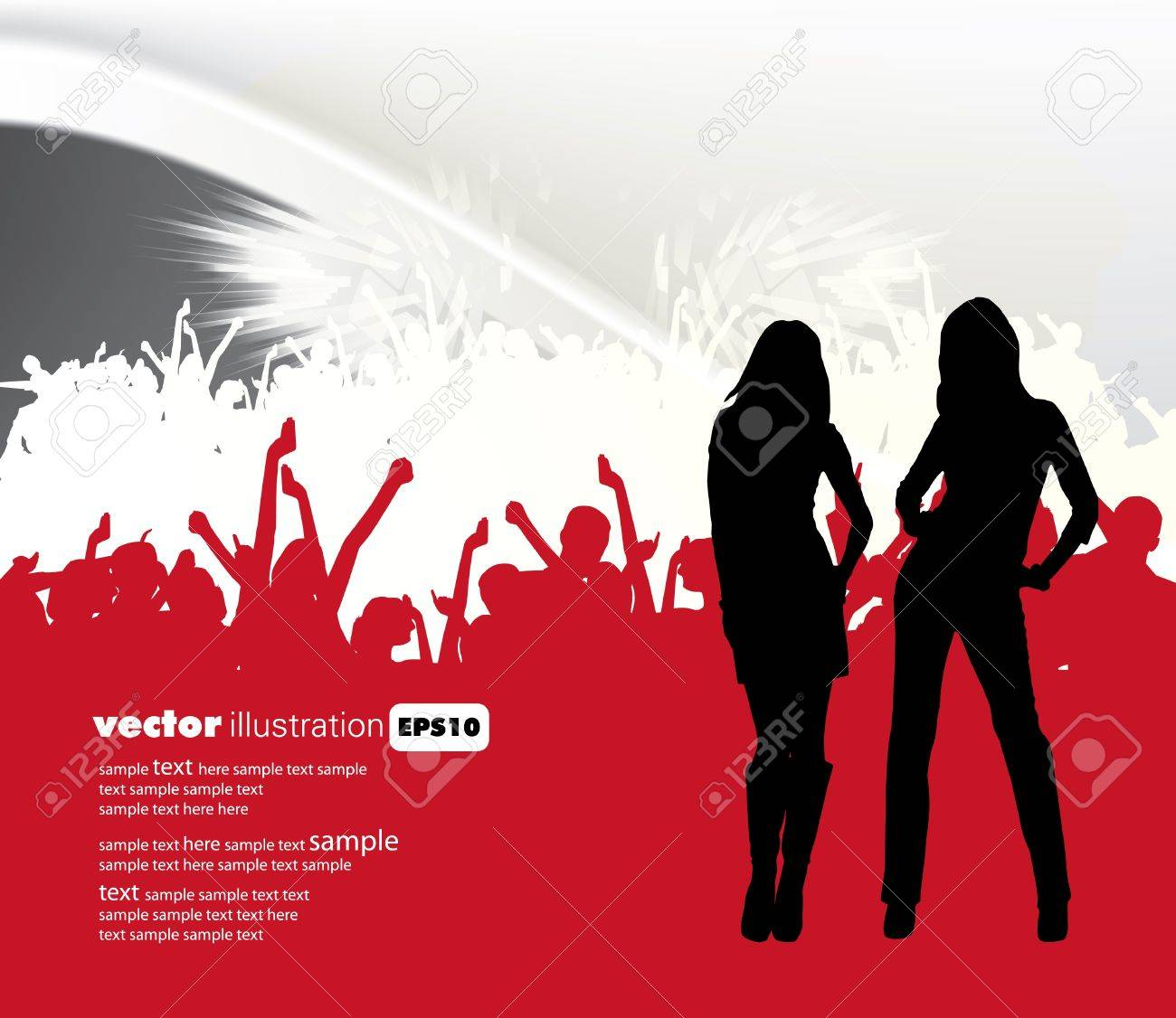 Music event background. Stock Vector - 11280306