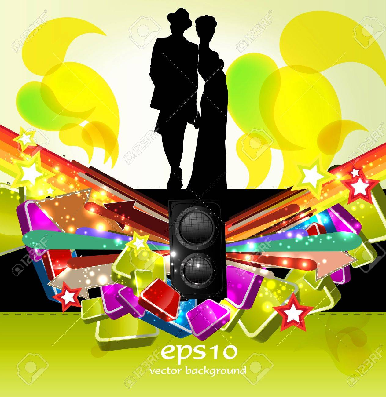 Party People Background Stock Vector - 11240090