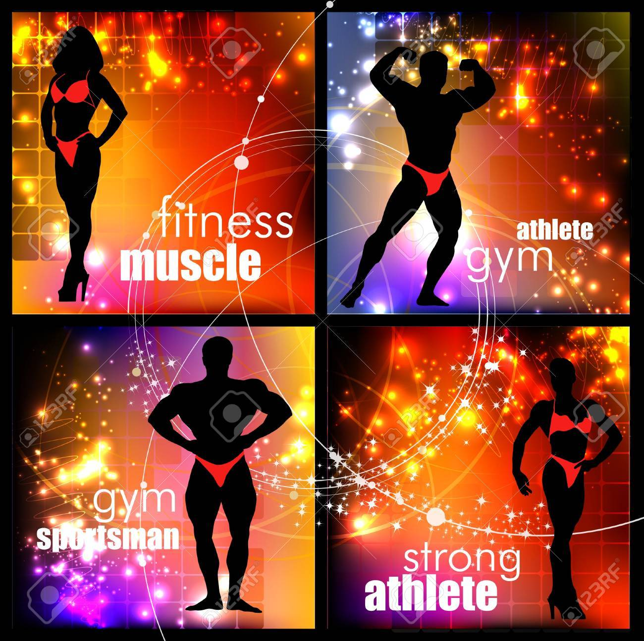 Bodybuilder Stock Vector - 11656962