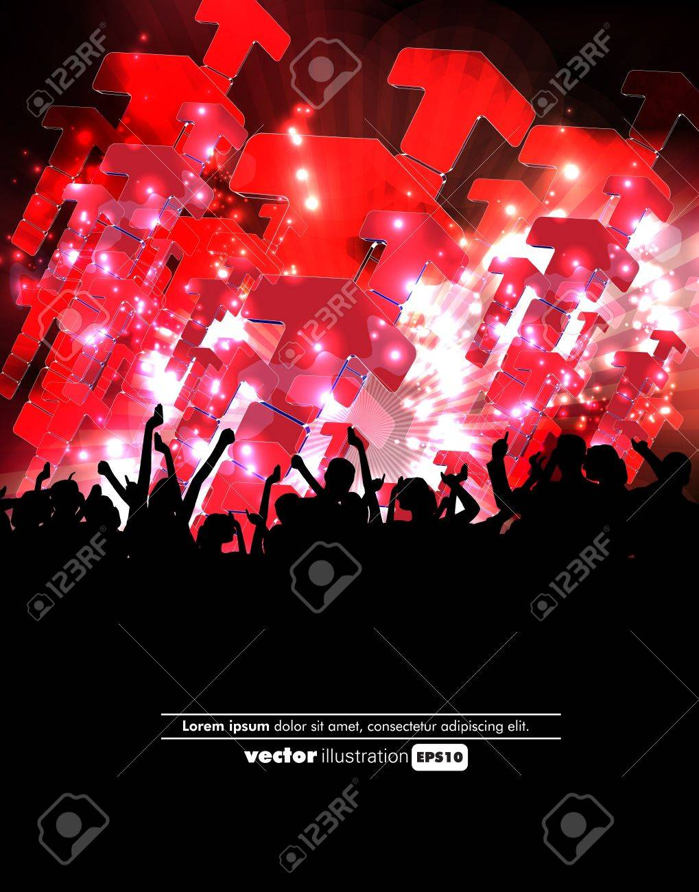 Crowd of party people Stock Vector - 12150516