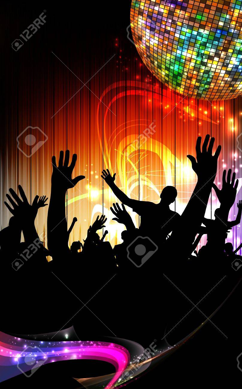 Group of people. Crowd infront of a stage. Vector Stock Vector - 12410289