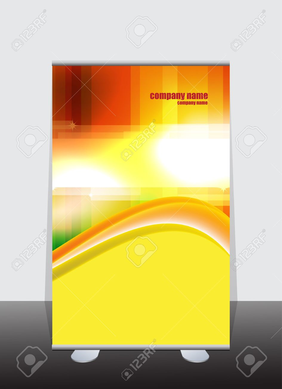 Banner stand display with identity background ready for use Stock Vector - 12410239