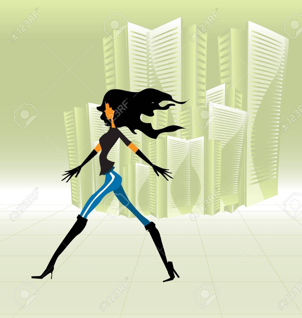 Girl walking Stock Vector - 12507719