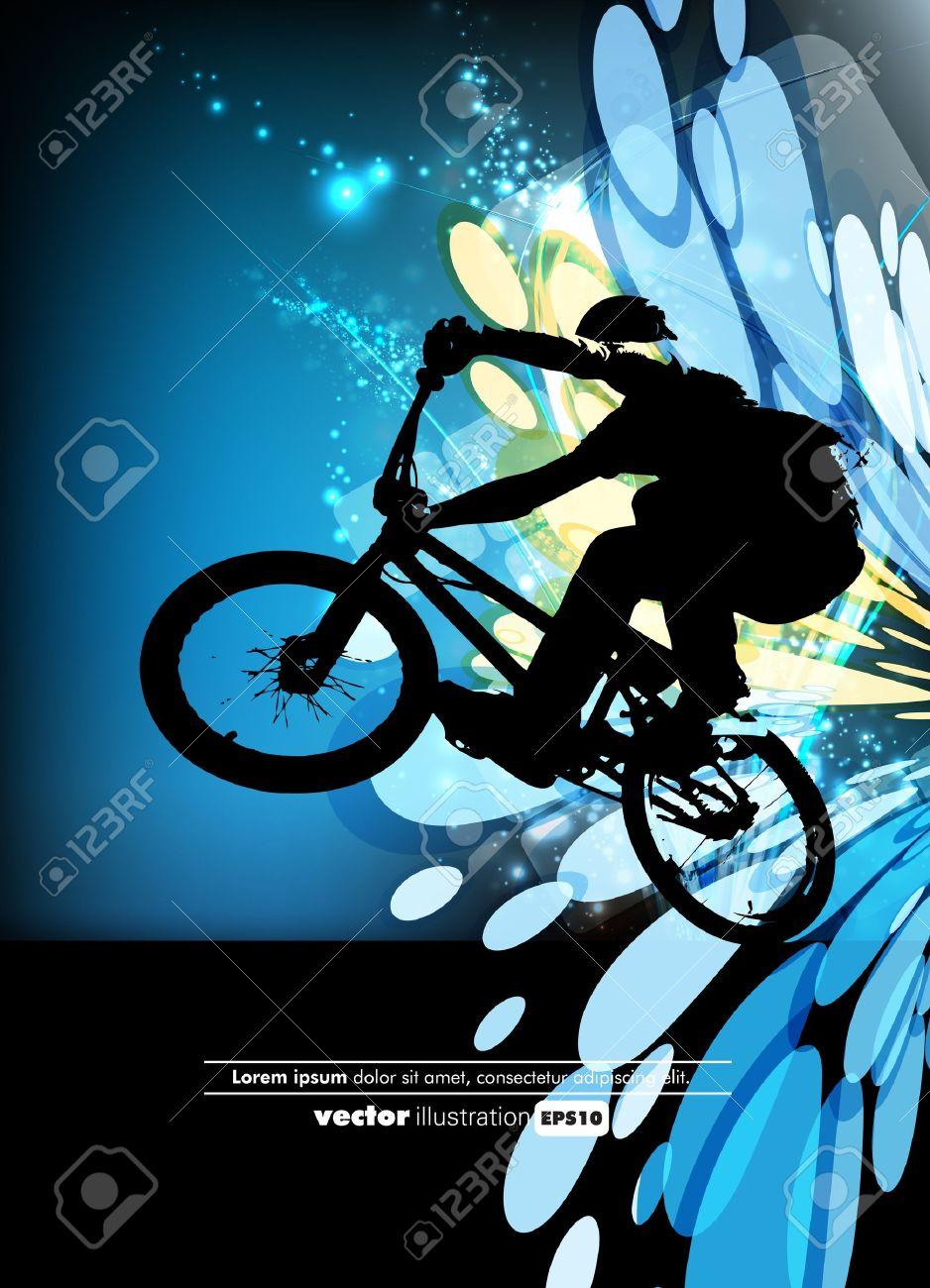 Man with BMX bike Stock Vector - 12507724