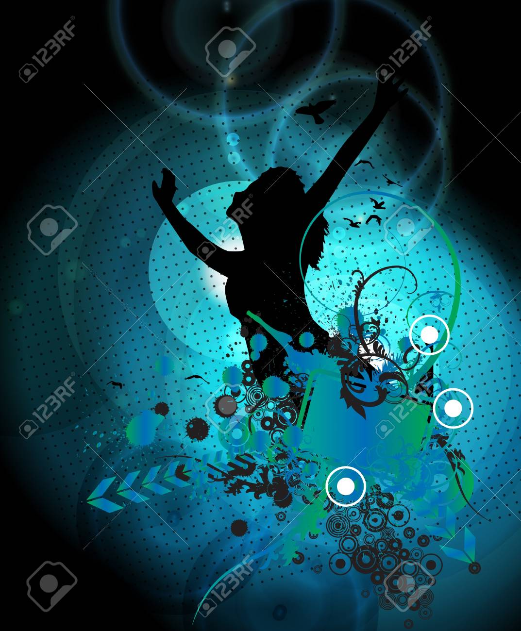 Music background illustration Stock Vector - 13294492