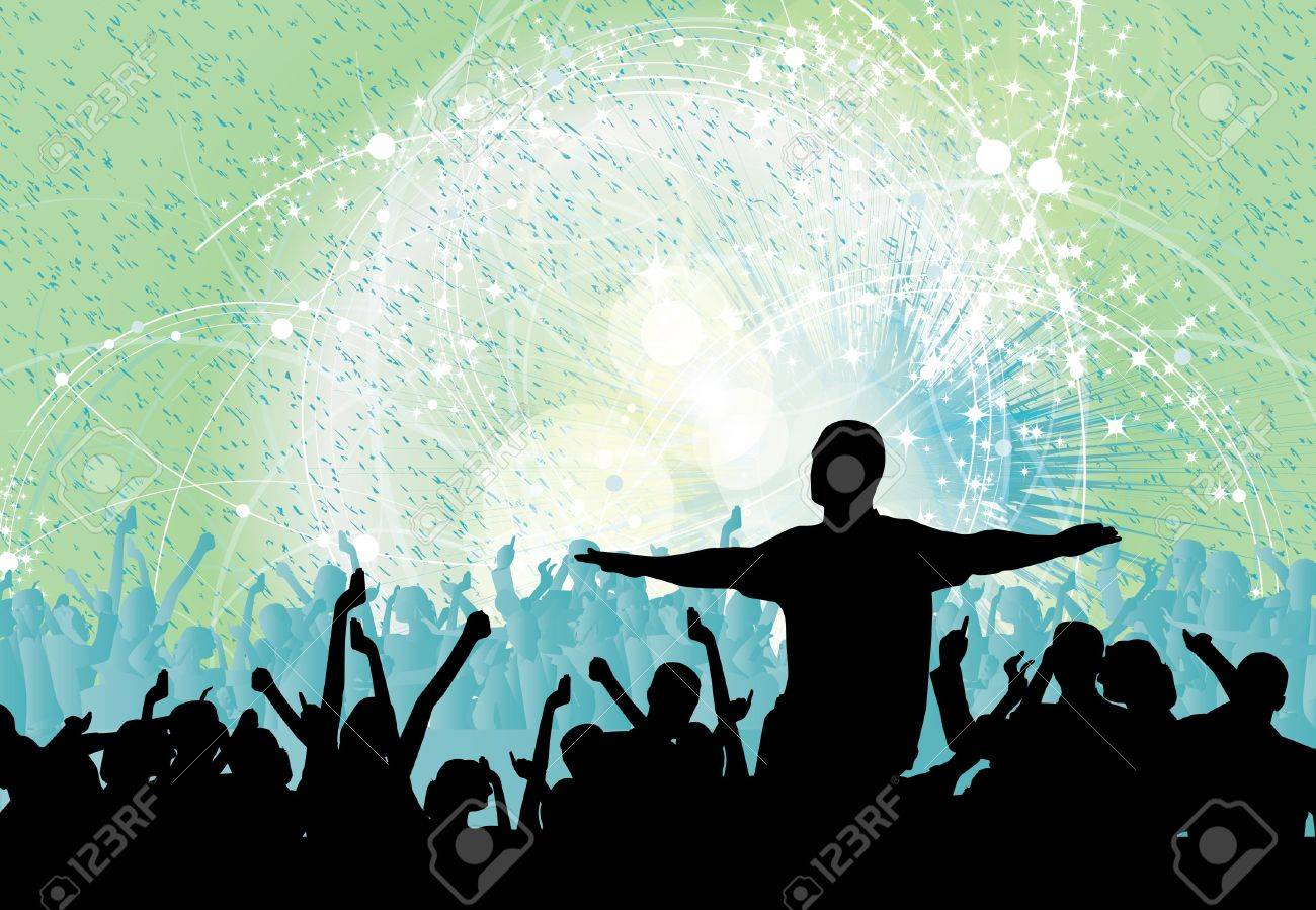 Dancing people Stock Vector - 13748733