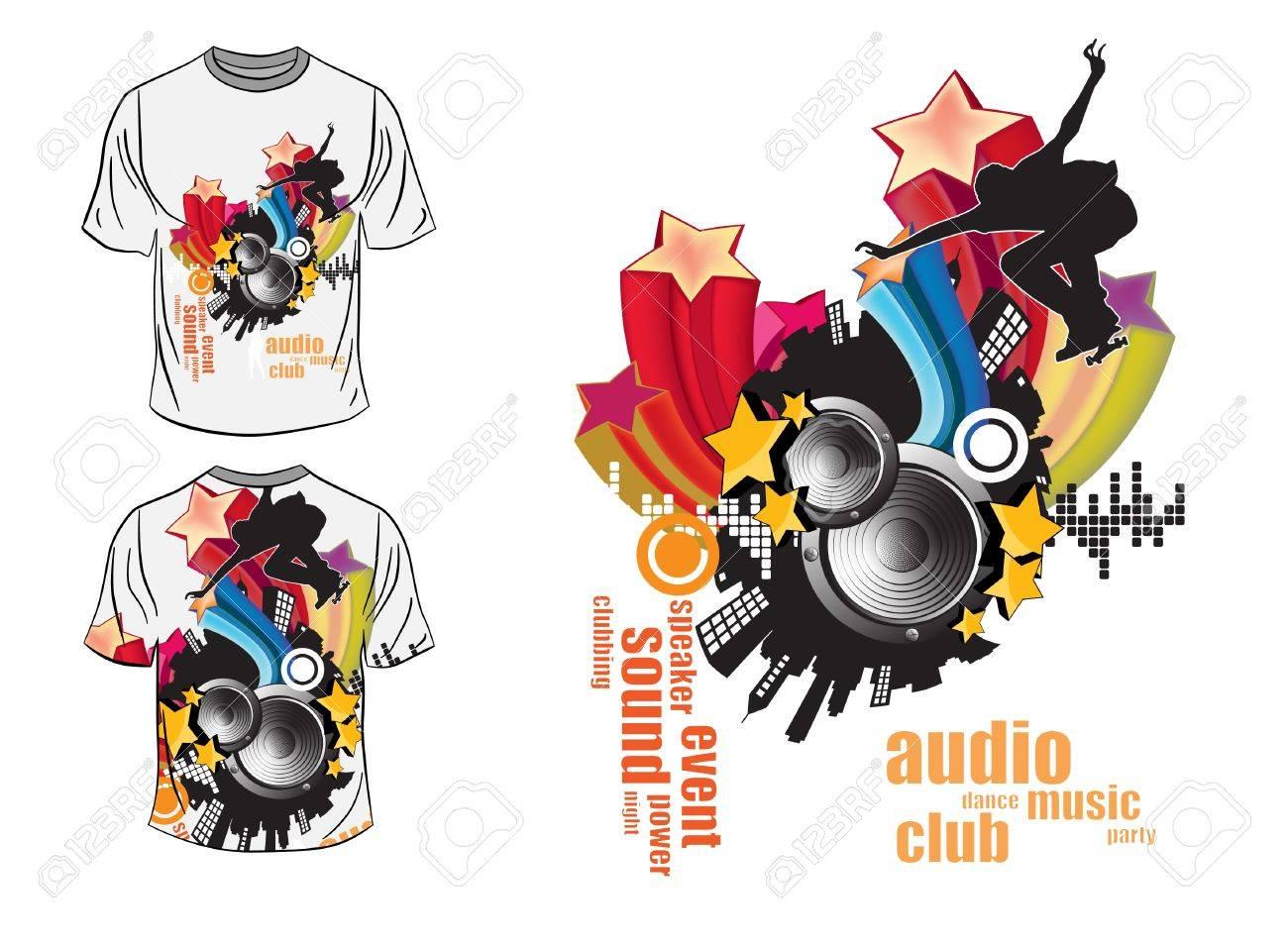 T shirt design vector - T Shirt Design Stock Vector 14076680