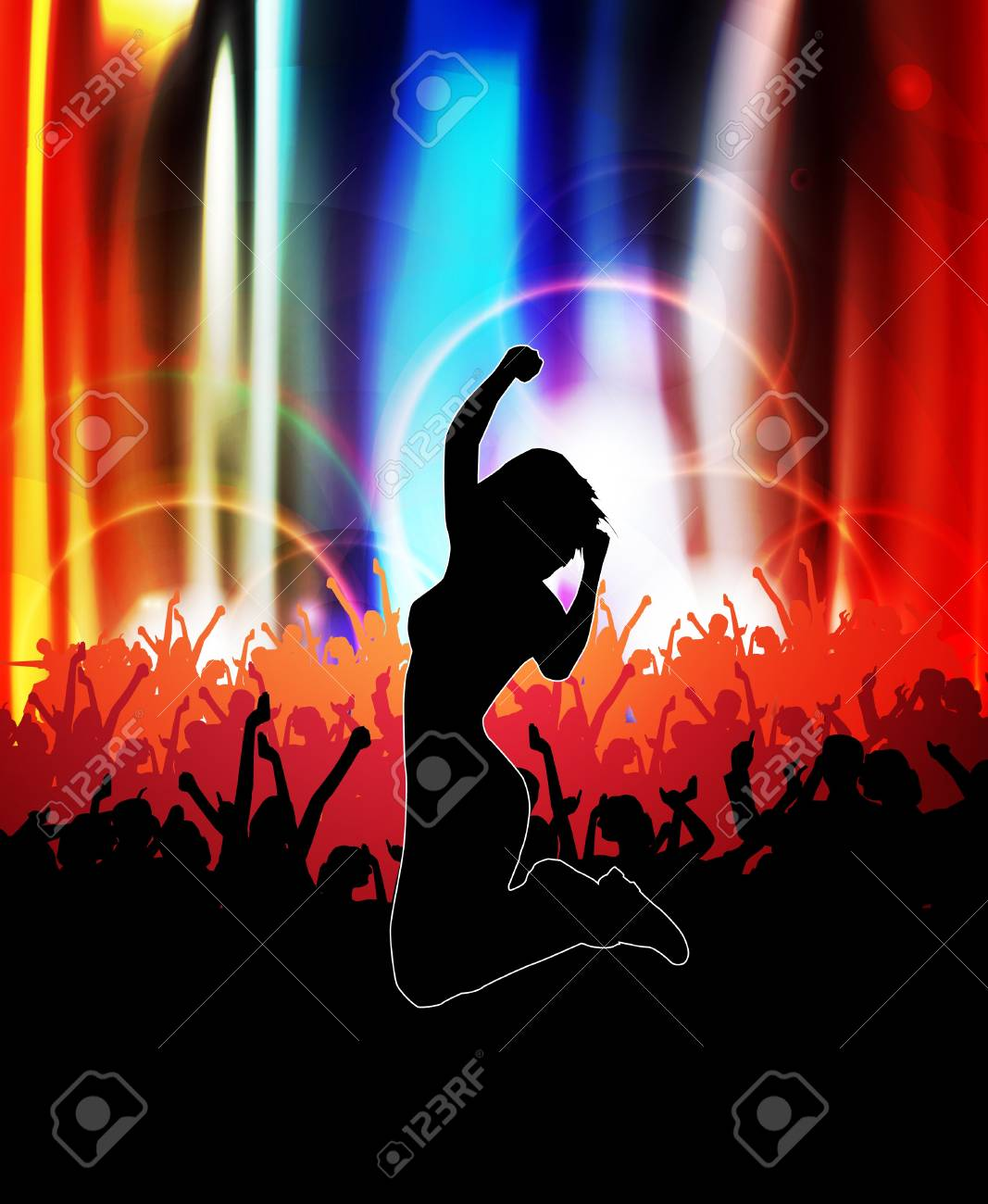 Dancing people   illustration Stock Vector - 14109242