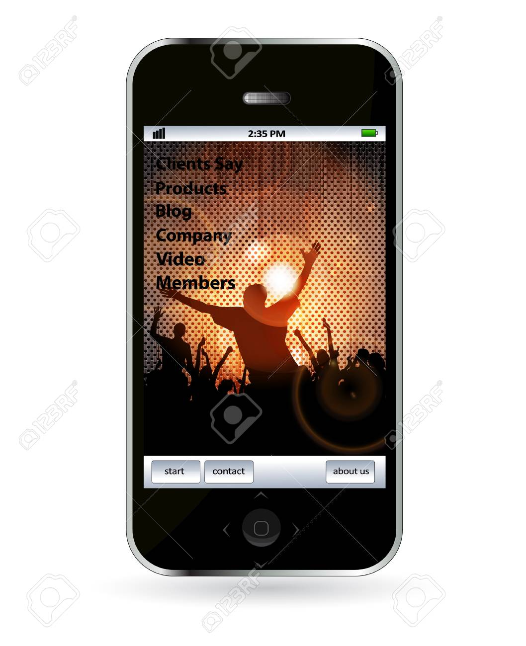 Mobile phone with music application Stock Vector - 14245074