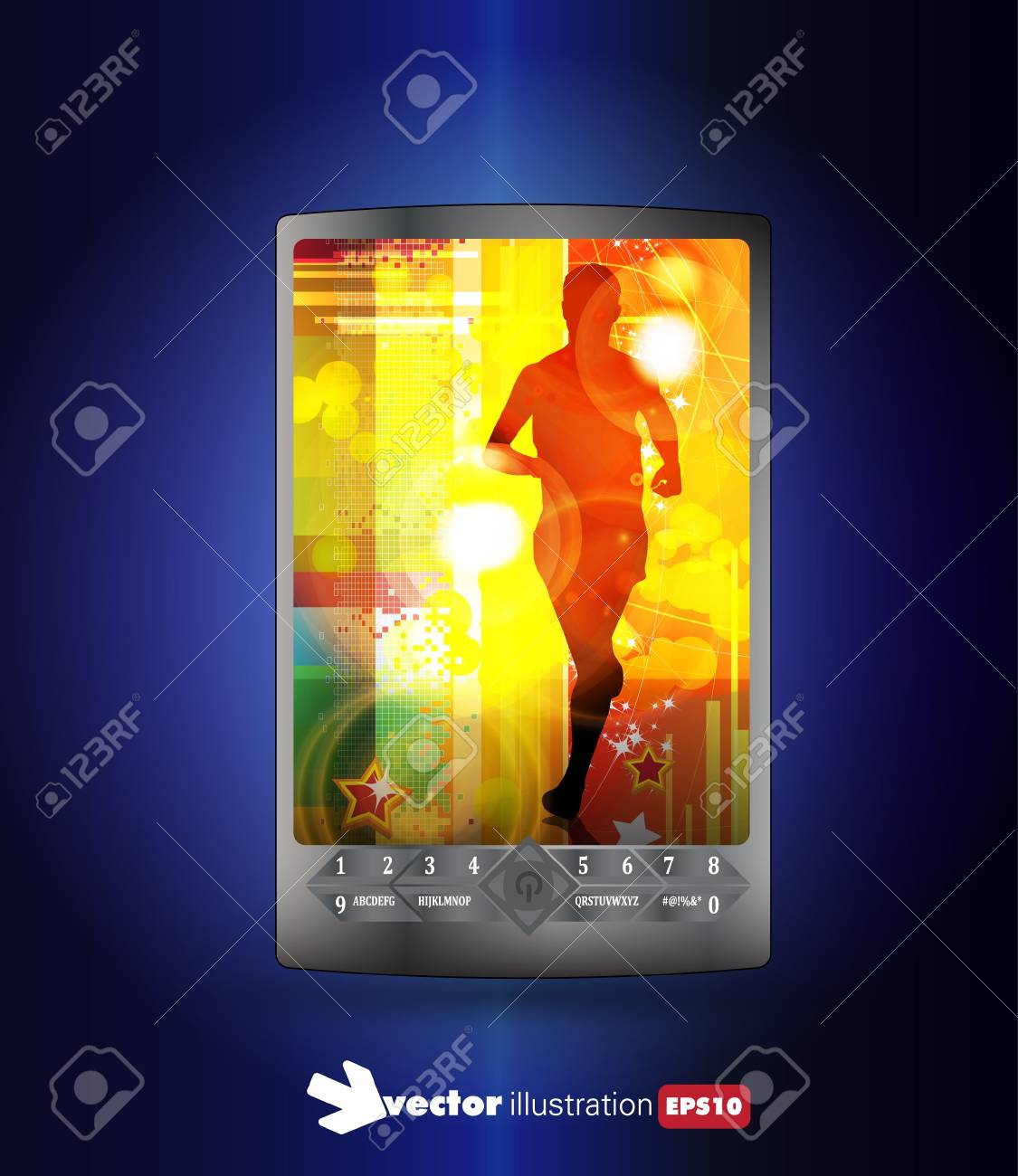 Smart phone with sport application Stock Vector - 14344188
