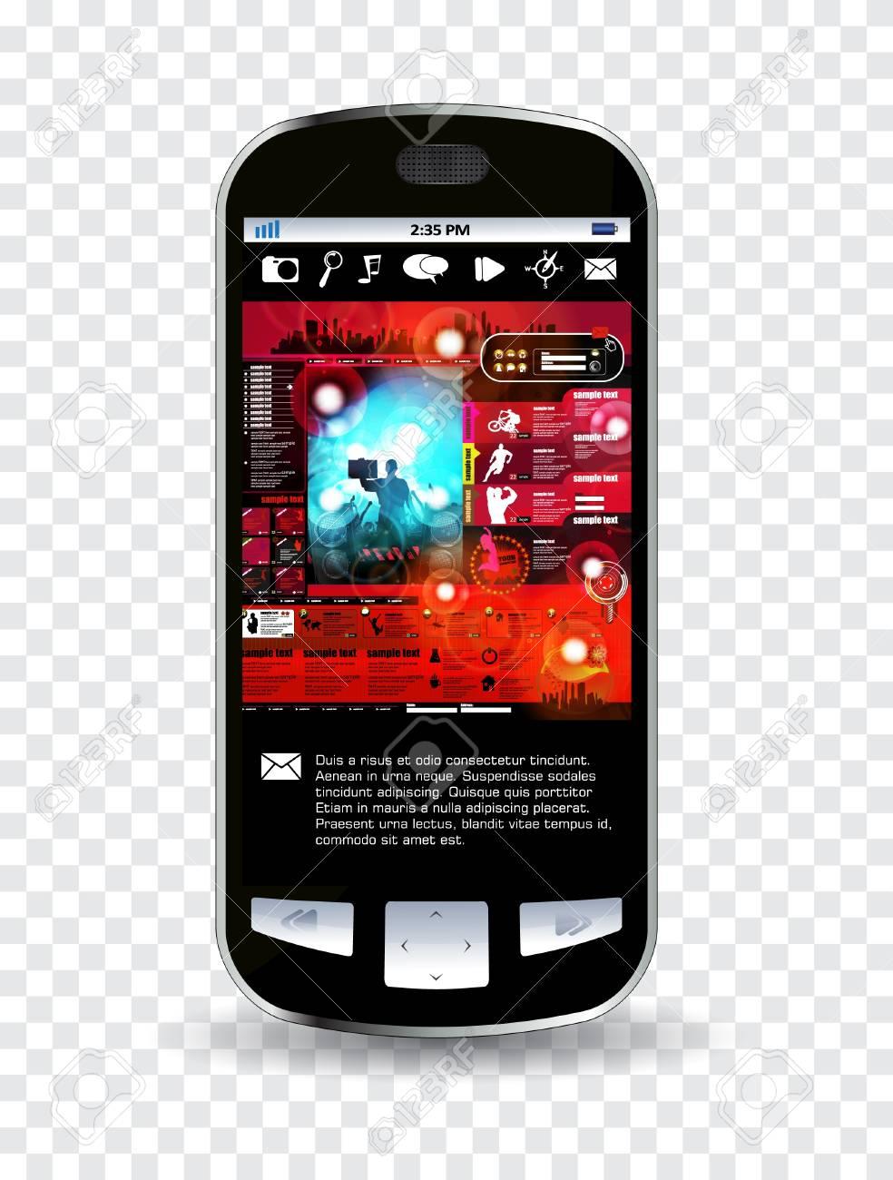 Smartphone editable Stock Vector - 14322843