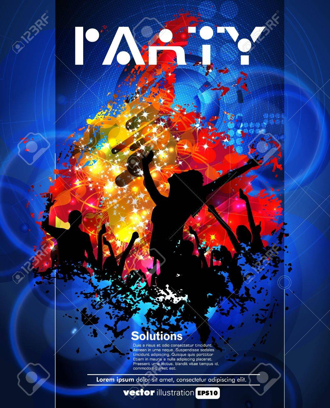 Concert poster  Vector illustration Stock Vector - 15338656