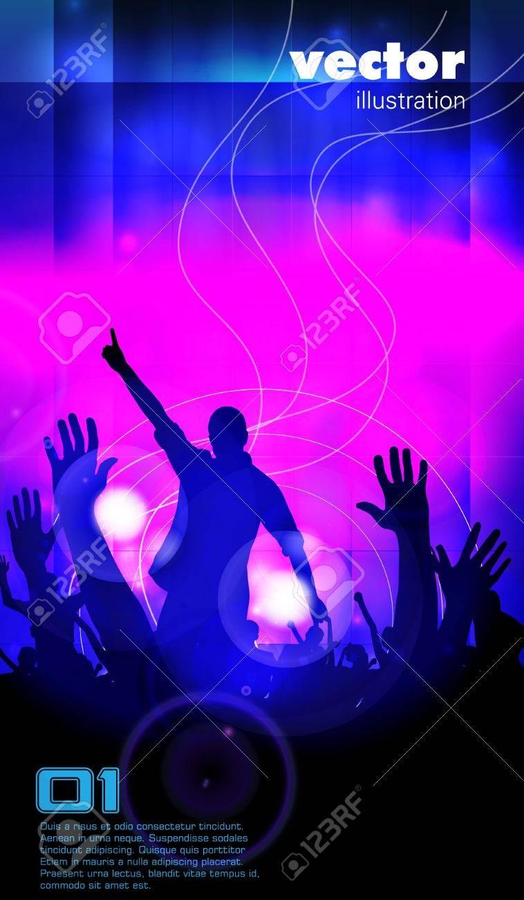 Concert illustration  Dancing people Stock Vector - 15581567