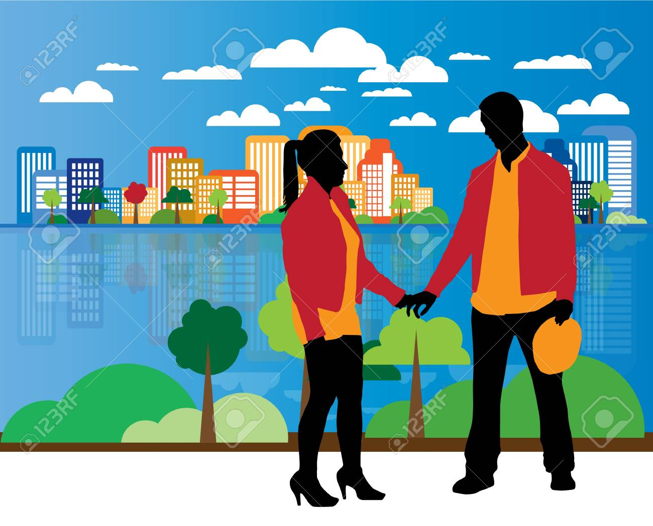 illustration of a couple Stock Photo - 16144196
