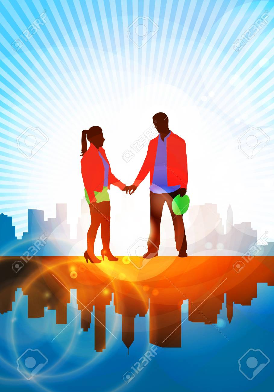 illustration of a couple Stock Photo - 16144201