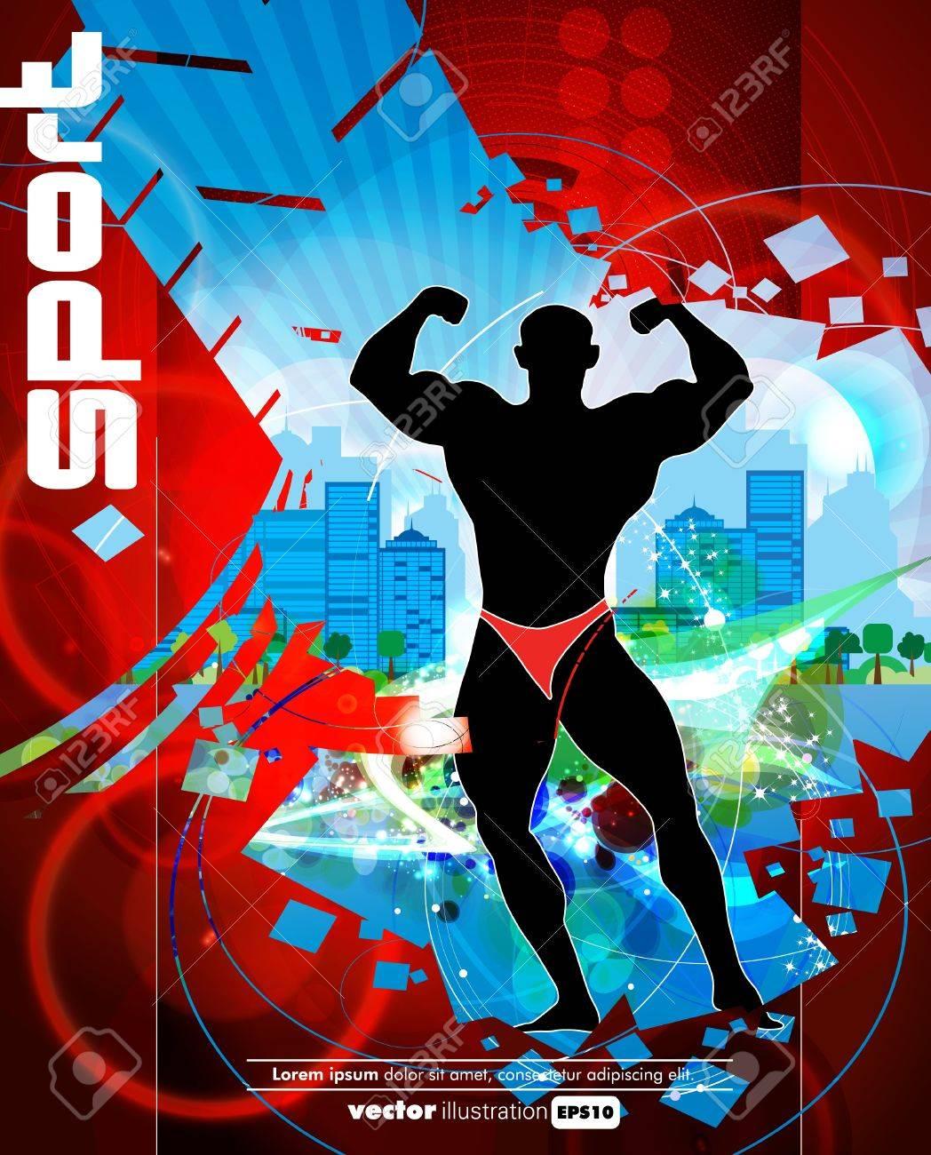 Bodybuilding  Vector illustration Stock Vector - 16509309