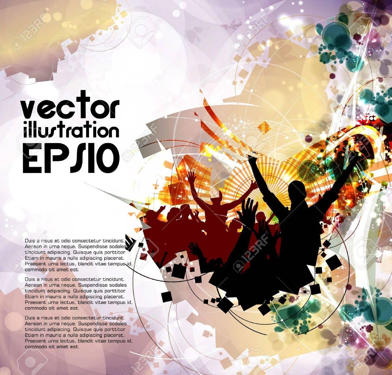 Dancing people Stock Vector - 16140660