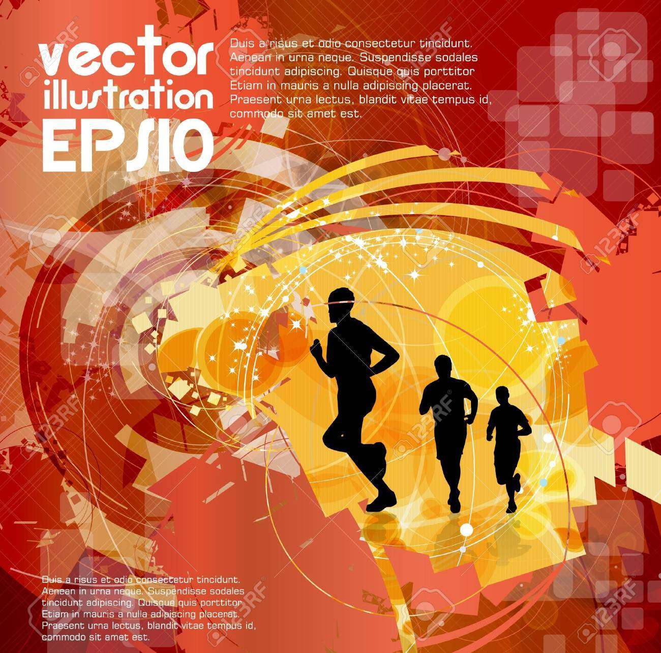 Editable vector illustration of a running man Stock Vector - 16269722