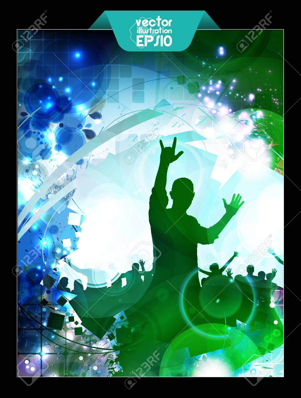 Music event illustration  Dancing people Stock Vector - 16718002