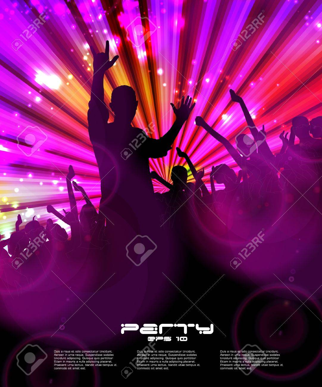 Night club. Dancing people. Stock Vector - 16737503