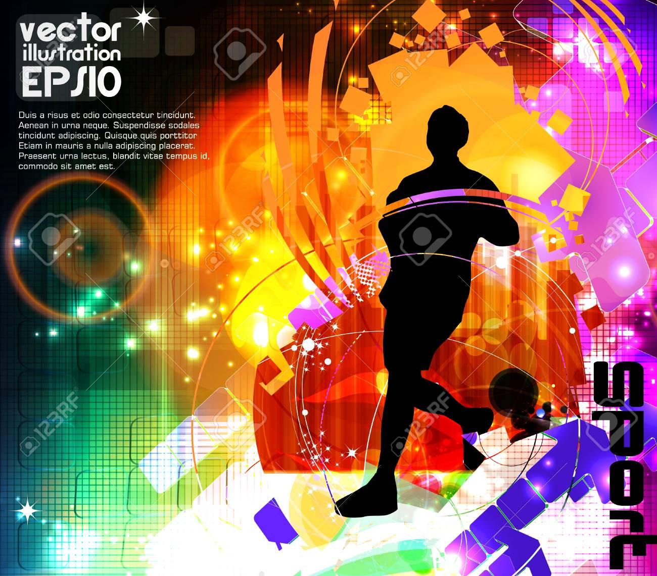 Marathon runner Stock Vector - 17014682