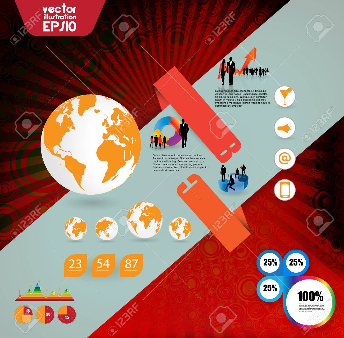 High quality business infographic elemnts Stock Vector - 16983122