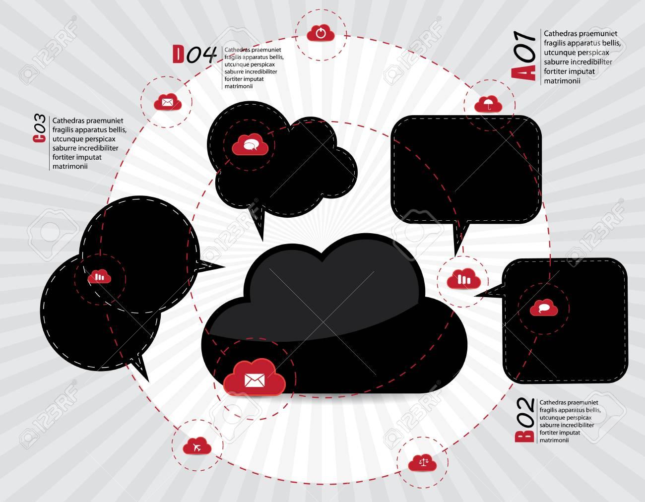 Cloud computing concept. Stock Vector - 16983125