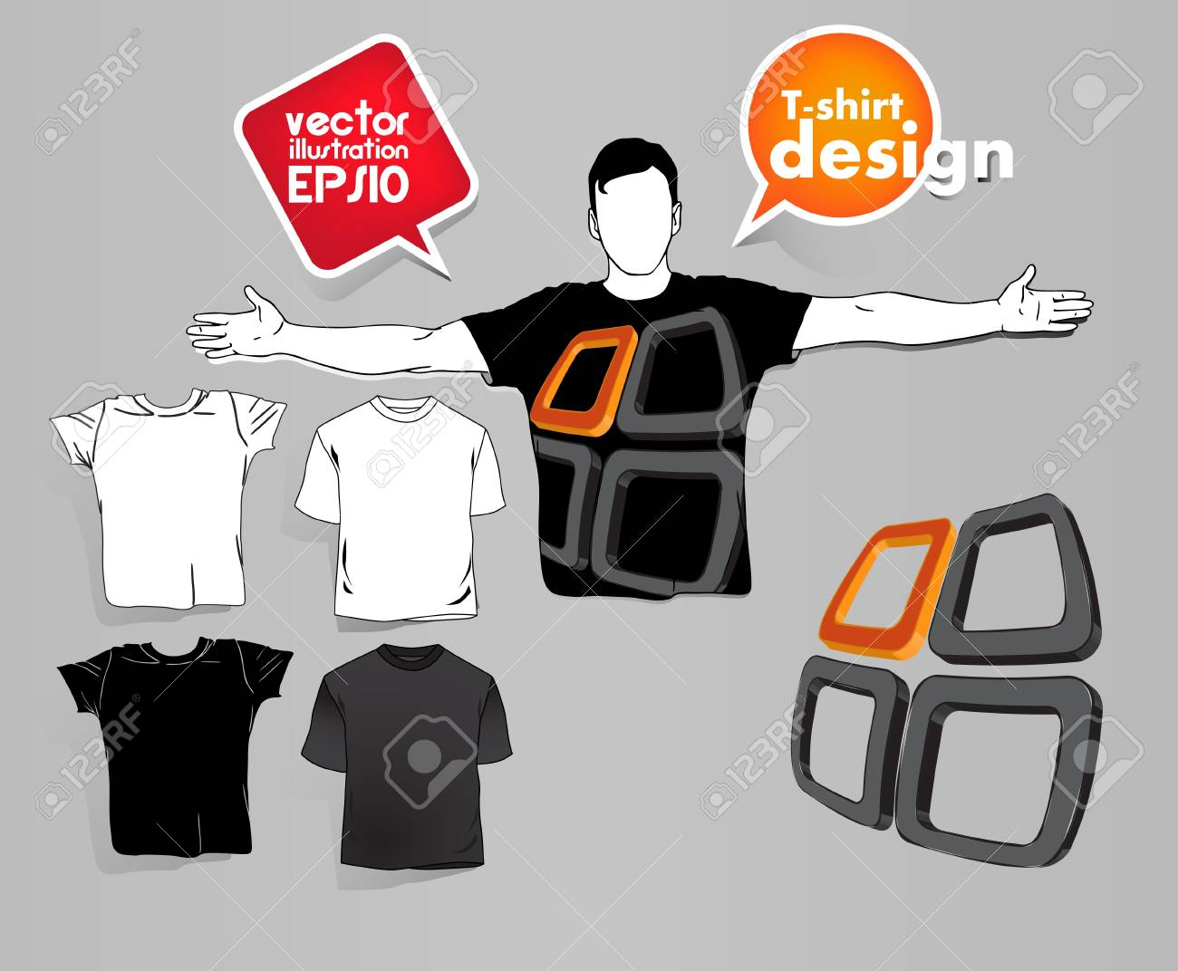 T Shirts Collection Stock Vector - 17413372