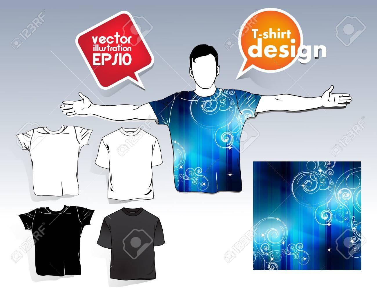 T-shirt. Men body silhouette. Stock Vector - 17413386