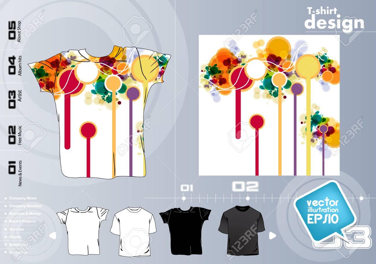 T-shirt design. Vector Stock Vector - 17449829