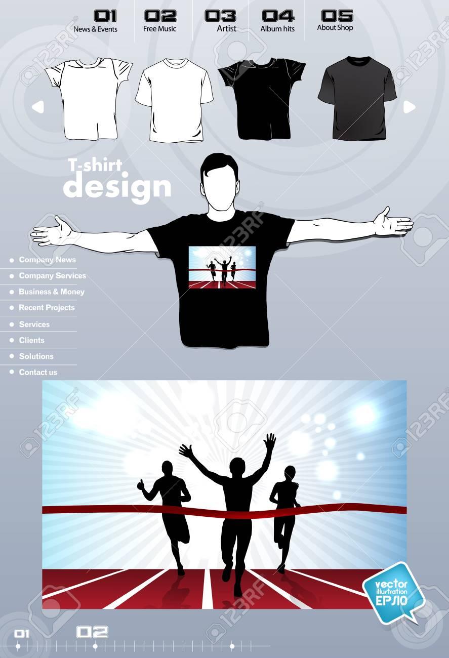 T-shirt. Men body silhouette. Vector Stock Vector - 17449842