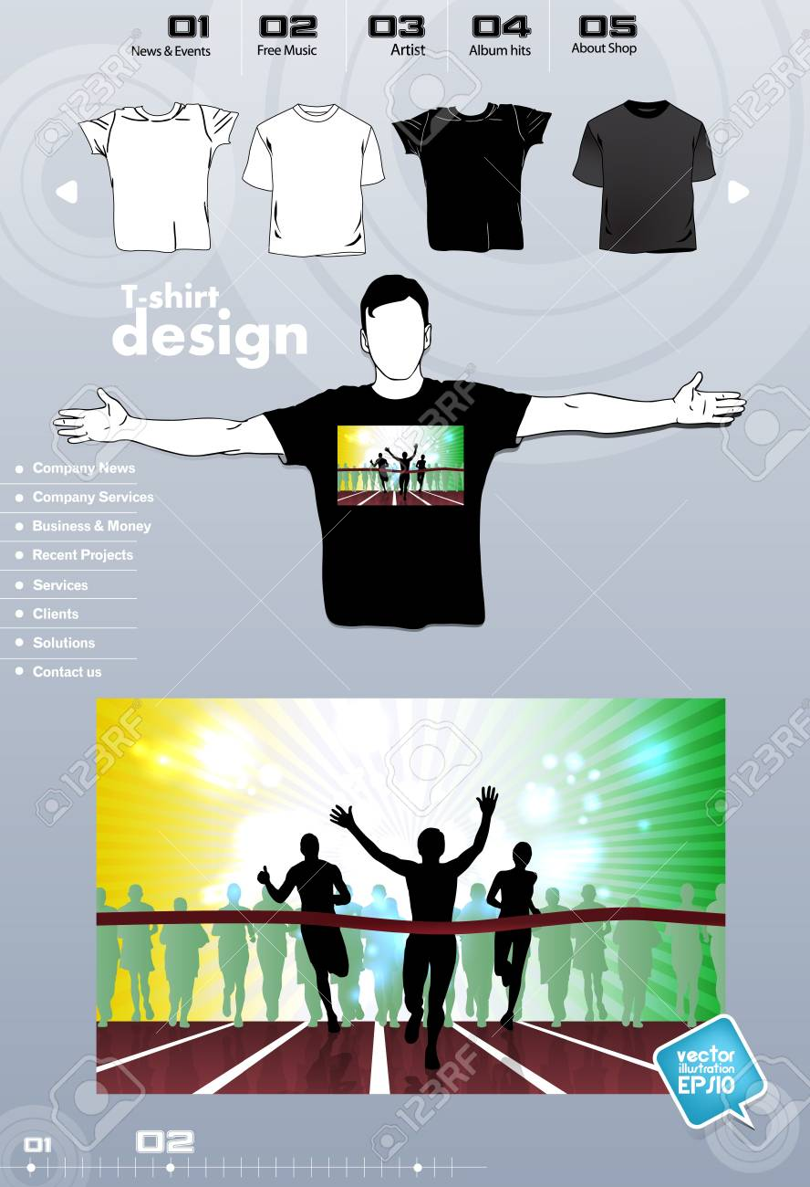 T-shirt. Men body silhouette. Vector Stock Vector - 17449845