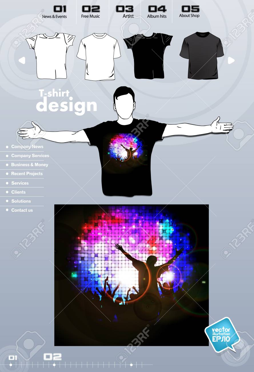 T-shirt. Men body silhouette. Vector Stock Vector - 17449828