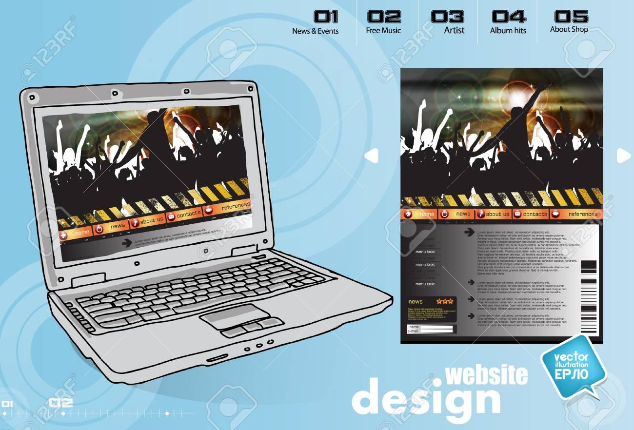 Website Template Stock Vector - 17450042