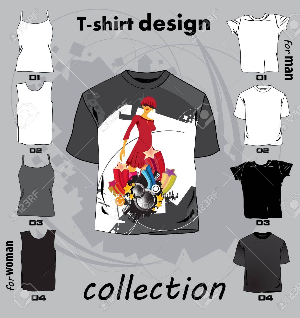 T shirt design vector - Abstract T Shirt Design Vector Illustration Stock Vector 17478251