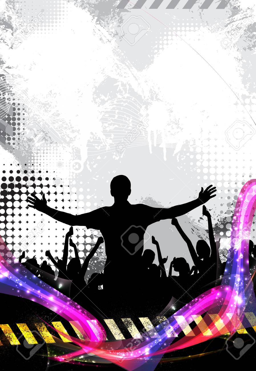 Music party. Dancing people Stock Vector - 17529886