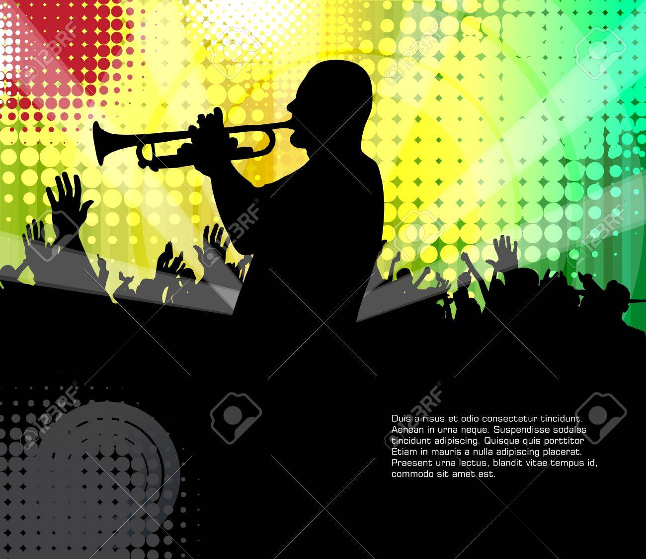 Music dance background Stock Vector - 17530077