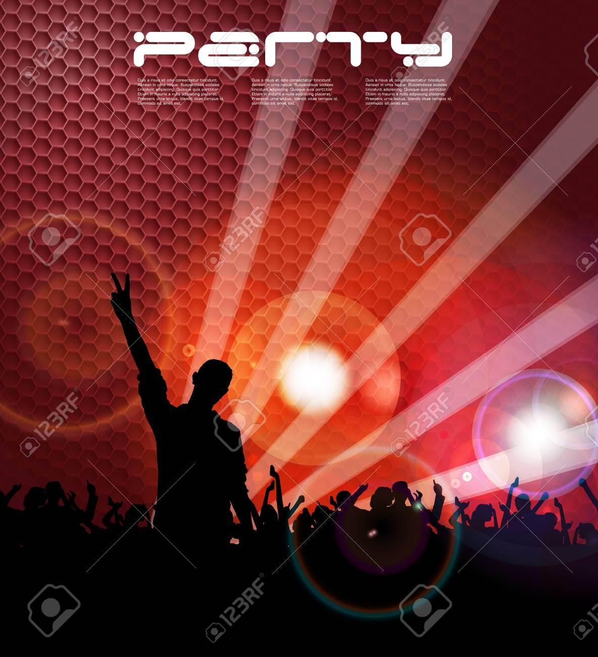 Crowd in front of a stage Stock Vector - 17862165