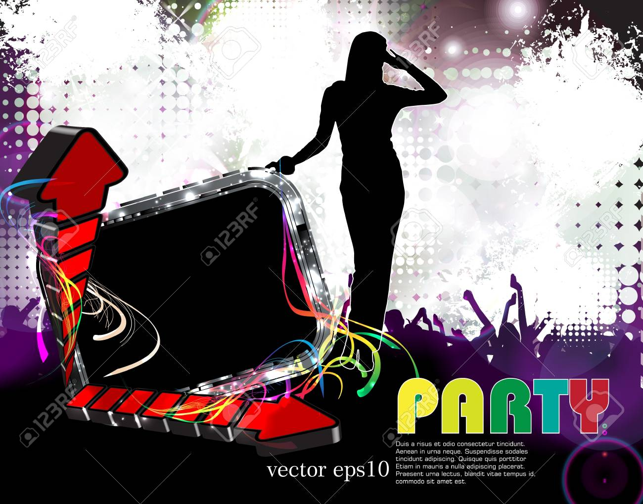 Music event background Stock Vector - 18428417