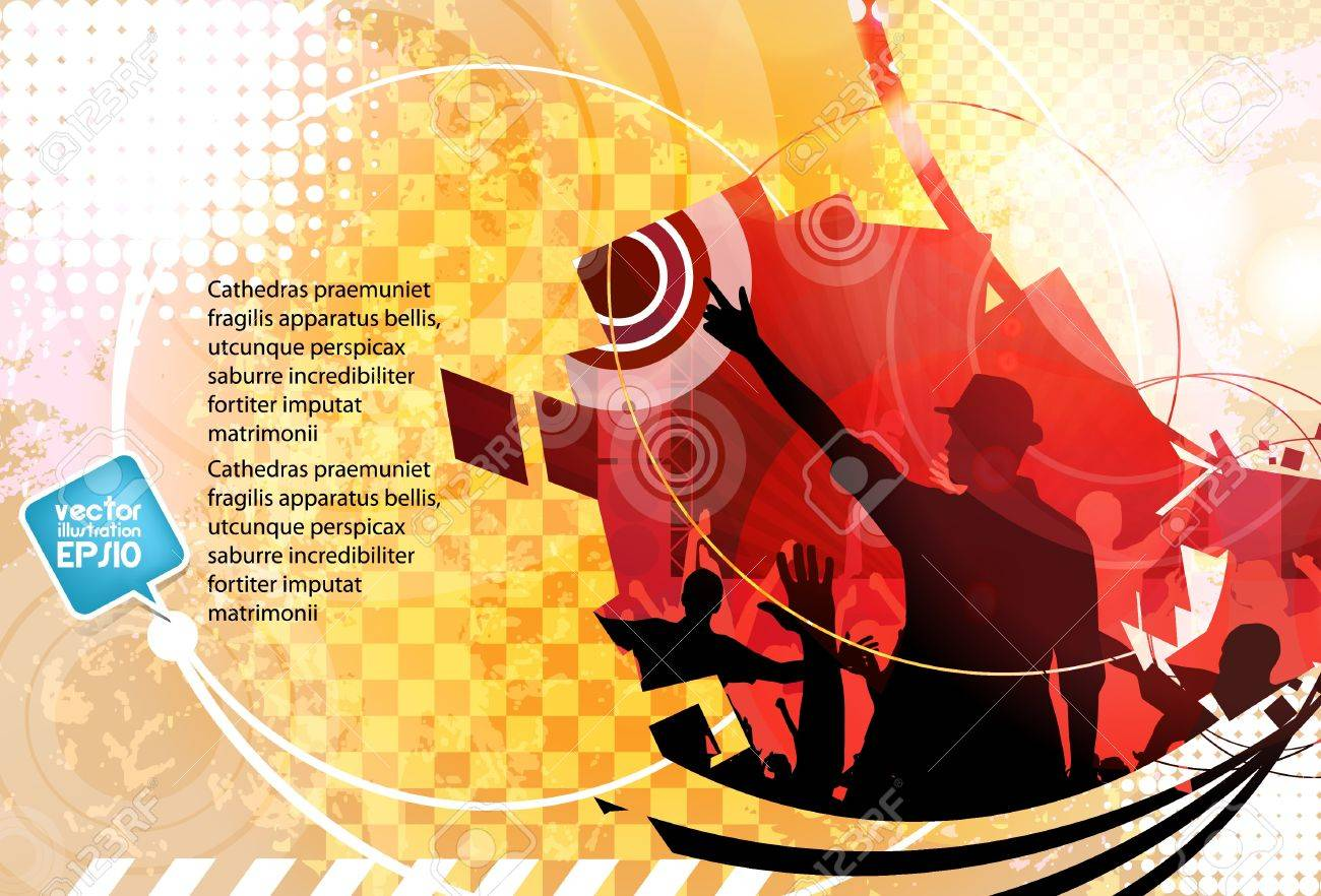 Music background Stock Vector - 18543191